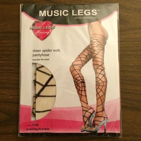 edfef8aaa5b06 Music Legs Accessories | Spiderweb Halloween Goth Tights Osfa | Poshmark